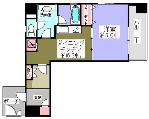 神保町 3分マンション / 9階 部屋画像1