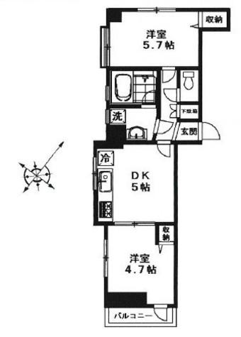 サンパーク恵比寿 / 12階 部屋画像1