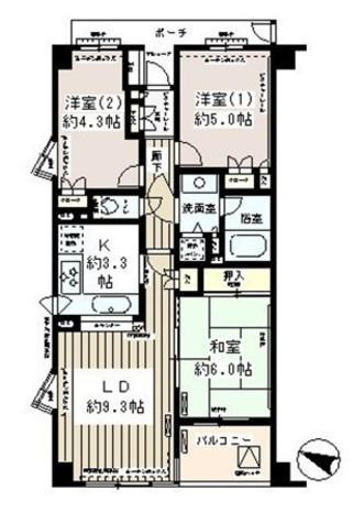 笹塚パーク・ホームズ / 601 部屋画像1