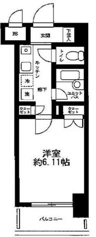 菱和パレス五反田西 / 7階 部屋画像1