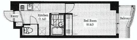 フロンティア恵比寿(Frontier恵比寿) / 9階 部屋画像1