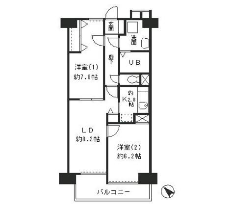 リューズ・リバー月島 / 5階 部屋画像1