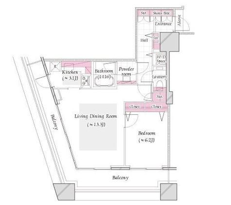 コンシェリア西新宿TOWER'SWEST / 18階 部屋画像1