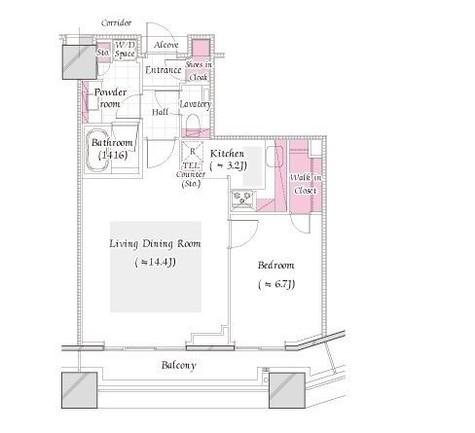 コンシェリア西新宿TOWER'SWEST / 22階 部屋画像1