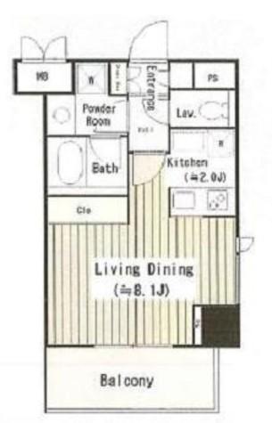 パークサイド湯島台 / 4階 部屋画像1