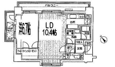 エステージ築地 / 8階 部屋画像1