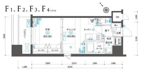 間取り図 F4タイプ