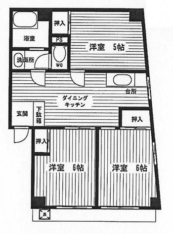 第2まつしまハイツ / 302 部屋画像1