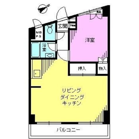 北品川ダイヤモンドパレス / 2階 部屋画像1
