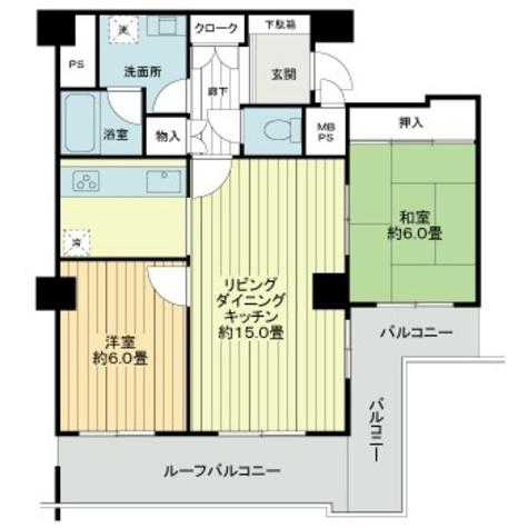 藤和湯島コープ / 511 部屋画像1
