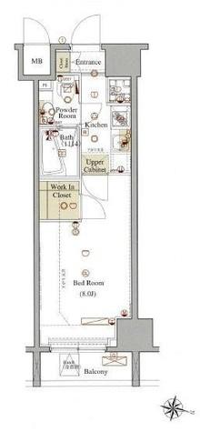 ヴォーガコルテ板橋本町アジールコート / 3階 部屋画像1