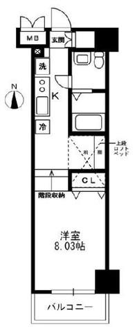 レジディア上野御徒町 / 13階 部屋画像1