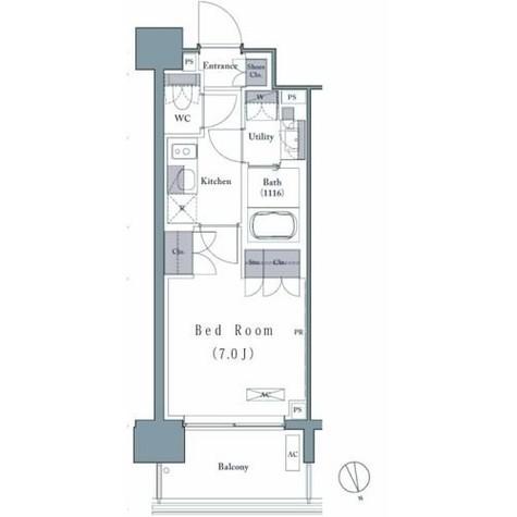 プレジリア新富町 / 2階 部屋画像1