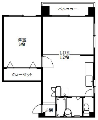 第一天野ハイツ / 5階 部屋画像1