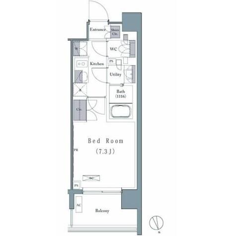 プレジリア新富町 / 3階 部屋画像1