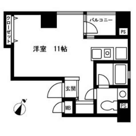 昭美人形町マンション / 601 部屋画像1