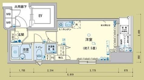 アクティア神田岩本町 / 10階 部屋画像1