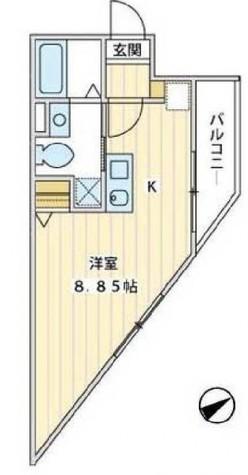 プラージュ白金台 / 3階 部屋画像1