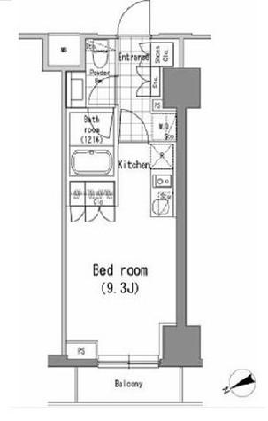 パークハビオ新橋 / 9階 部屋画像1