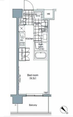 パークハビオ赤坂 / 2階 部屋画像1