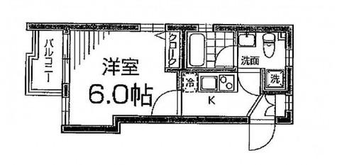M's麻布十番(エムズ麻布十番) / 3階 部屋画像1