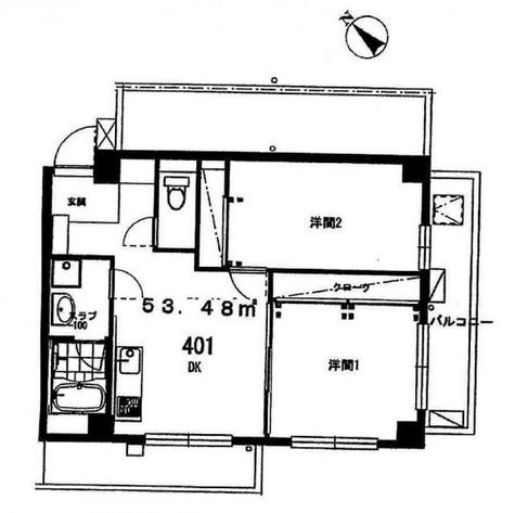 グリーンヒルズ(大岡山1) / 4階 部屋画像1
