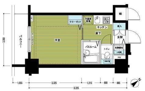 アヴァンティーク銀座2丁目参番館 / 3階 部屋画像1