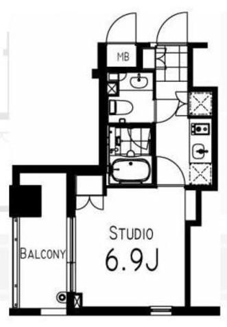 コンフォリア日本橋人形町イースト / 2階 部屋画像1