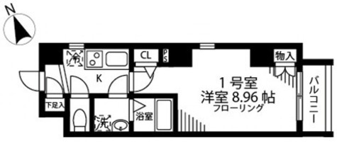 MAISON ASAKUSA G2(メゾン浅草G2) / 3階 部屋画像1