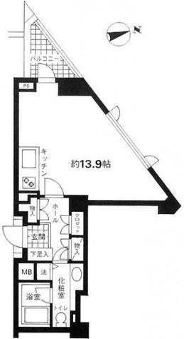 モデルノ・オパス有栖川 / 306 部屋画像1