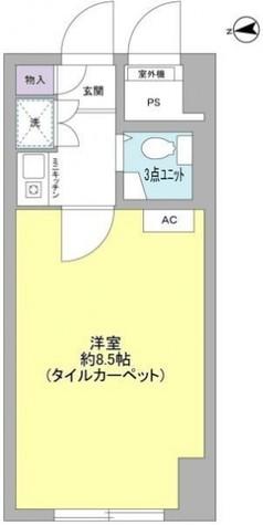 日興パレス雷門 / 8階 部屋画像1