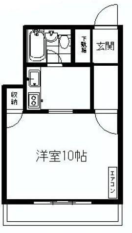 第二白金ハウス / 306 部屋画像1