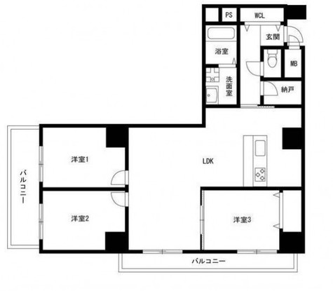 藤和湯島コープ / 3階 部屋画像1
