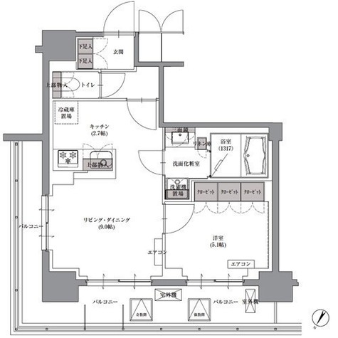 プレジリア人形町 / 701 部屋画像1