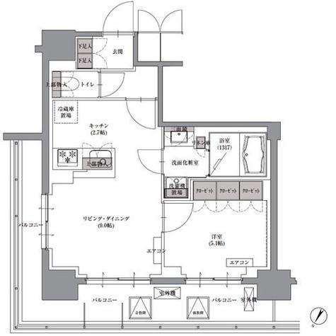 プレジリア人形町 / 8階 部屋画像1