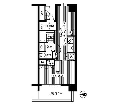 イーストコモンズ清澄白河パークフラッツ / 5階 部屋画像1
