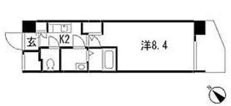 居室はゆとりの8.4帖です。