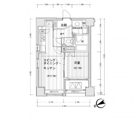 ドゥーエ銀座イーストⅠ / 401 部屋画像1