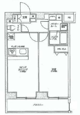 スカイコート品川パークサイド / 7階 部屋画像1