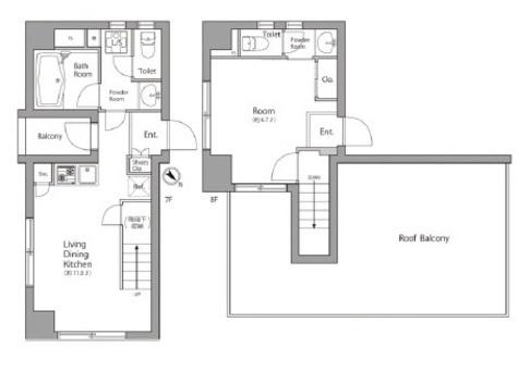 ローズハウス麻布十番 / 7 Floor 部屋画像1