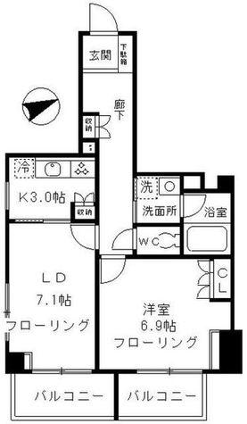 ファインクレスト上目黒 / 3階 部屋画像1