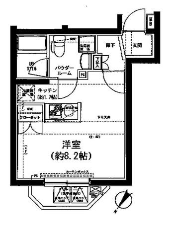 SPATIE SOLIDE MEGURO(スパシエソリデ目黒) / 201 部屋画像1