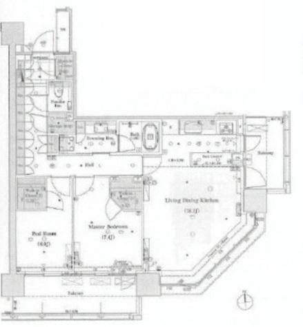 パークホームズ南麻布ザレジデンス / 900 部屋画像1