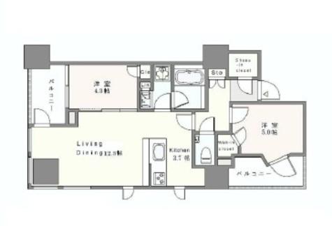 インプレストタワー芝浦エアレジデンス / 9階 部屋画像1