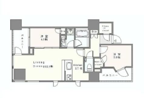 インプレストタワー芝浦エアレジデンス / 1503 部屋画像1