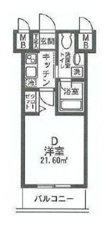 HF関内レジデンス / 7階 部屋画像1
