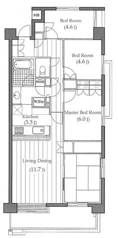 多摩川パークホームズ / 3階 部屋画像1