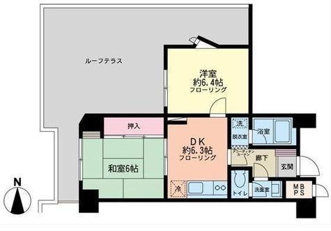 朝日高輪マンション / 2階 部屋画像1