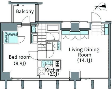 パークハビオ新宿イーストサイドタワー / 3階 部屋画像1