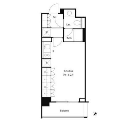 パークキューブ目黒タワー / 1階 部屋画像1